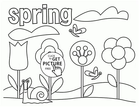 spring drawing pages free image