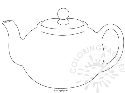 teapot and cup free coloring pages