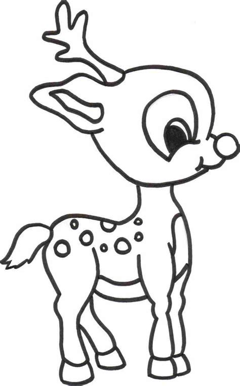 Free Printable Baby Reindeer Christmas Coloring Page For Kids | reindeer coloring sheets new calendar template site