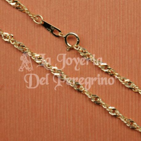 cadenas hombre oro blanco cadena de oro de 9 klt la joyeria del peregrino