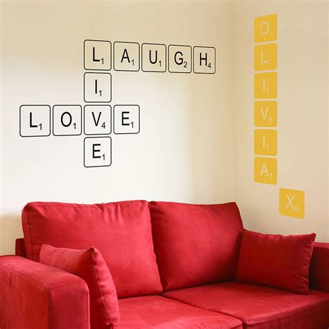 wall tiles stickers letter tile wall sticker by the bright blue pig