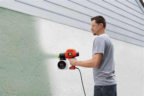 spray paint wall black decker bdps200 paint sprayer with side fill