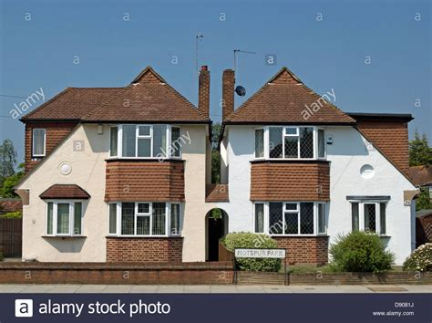 buying a 1930s house 1930s chalet style houses in motspur park southwest london england stock photo