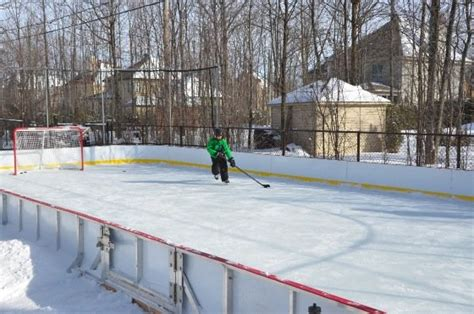 backyard ice skating rink backyard ice rinks build a home ice rink and bring on the hockey