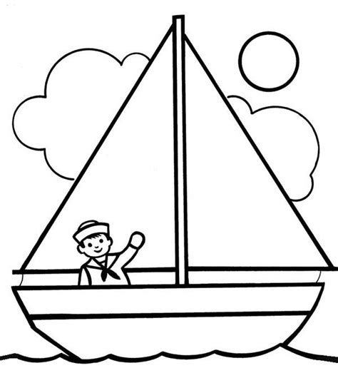 kids drawing sailing boat coloring pages batch coloring