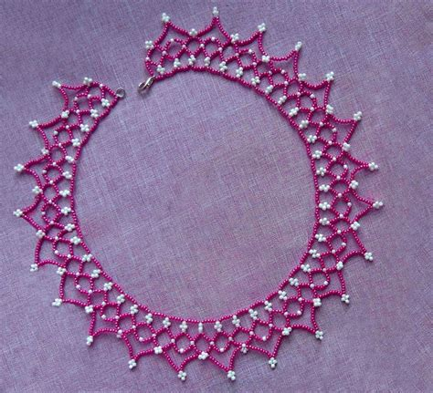 free beading patterns free pattern for pretty beaded necklace junona magic