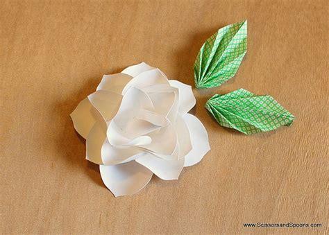 magnolia paper flower tutorial 2012 december scissors and spoons