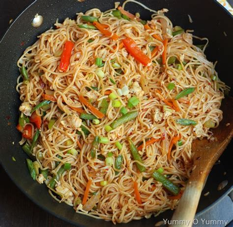 new year vegetarian noodles vegetable and egg noodles