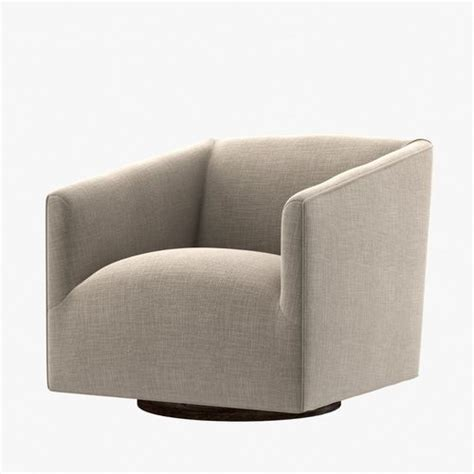 Restoration Hardware 1950s Italian Shelter Arm Upholstered Restoration Hardware Swivel Chair