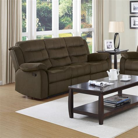 Coaster Reclining Sofa Coaster Rodman Reclining Sofa Two Tone Chocolate 601881 At Homelement