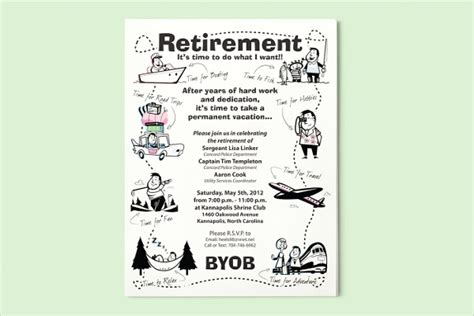 retirement flyer templates 9 free psd vector ai eps