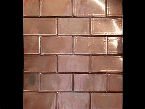 kitchen backsplash sheets design brick backsplash for your home copper sheets copper