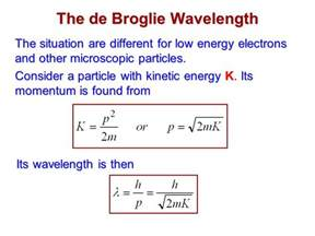 Kinetic Energy Of A Proton The Wavelike Properties Of Particles Ppt
