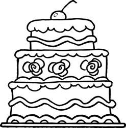 cake coloring pages worksheet of three wedding cake for