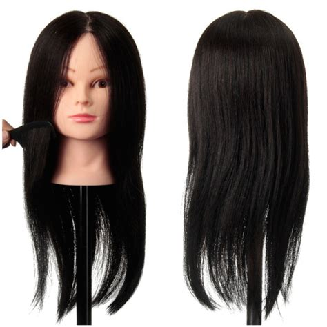 100 Human Hair Mannequin by 100 Black Practice Mannequin Real Human Hair