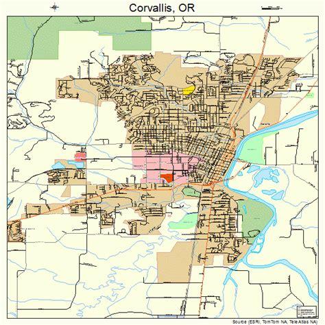 map of corvallis oregon corvallis oregon map 4115800