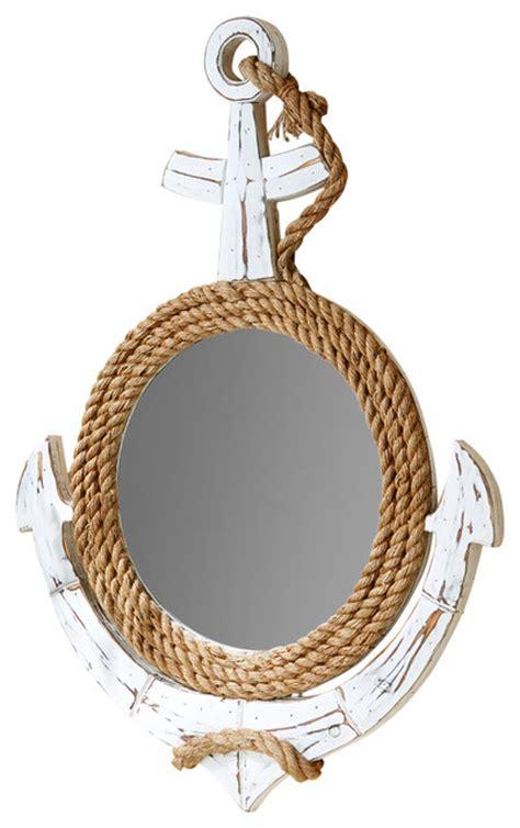 anchors away rope trim wall mirror beach style wall
