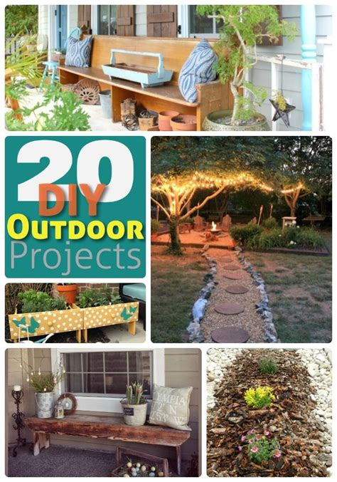 great ideas 20 outdoor diy projects out in the yard