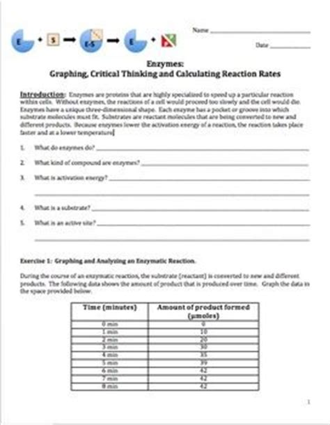 worksheet reaction rates answers reaction rate graphing activities and activities for students on