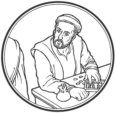 Matthew The Tax Collector Coloring Page saints coloring pages