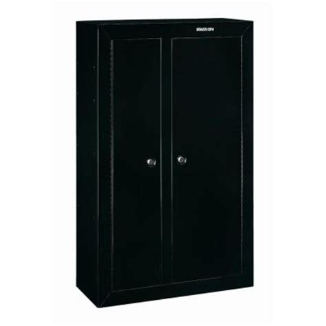 Stack On 10 Gun Door Security Cabinet by Stack On 10 Gun Black Door Security Cabinet Gcdb