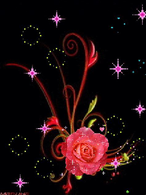 imagenes d rosas en movimiento animaciones con rosas o flores con brillo y destello