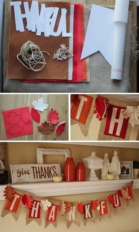 diy thanksgiving decorations diy thanksgiving banner this adorable thankful banner is