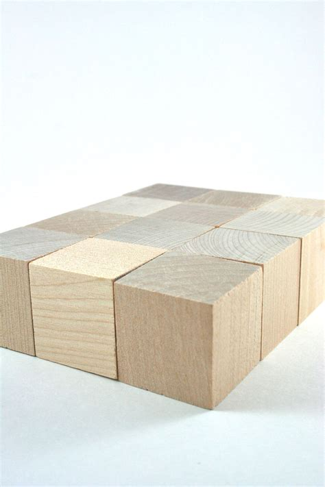 unfinished wood cube 12 unfinished wood blocks 1 5 inches wooden blocks cube for