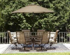 Patio Furniture Sets With Umbrella Garden Oasis Owens 7pc Dining Set Limited Availability Shop Your Way Shopping Earn