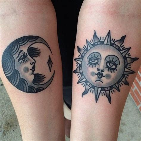 sun and moon tattoos for best friends 40 forever matching ideas for best friends
