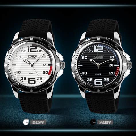 Jam Tangan Analog 6009 White skmei jam tangan analog pria silicone 0992c black white jakartanotebook