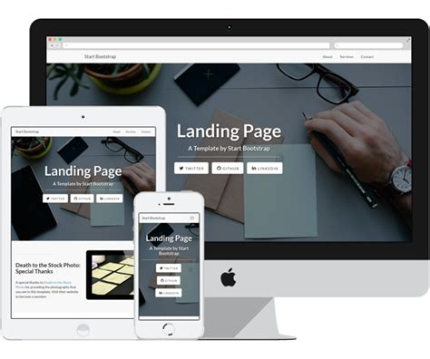 bootstrap themes free landing page landing page free bootstrap html theme on behance