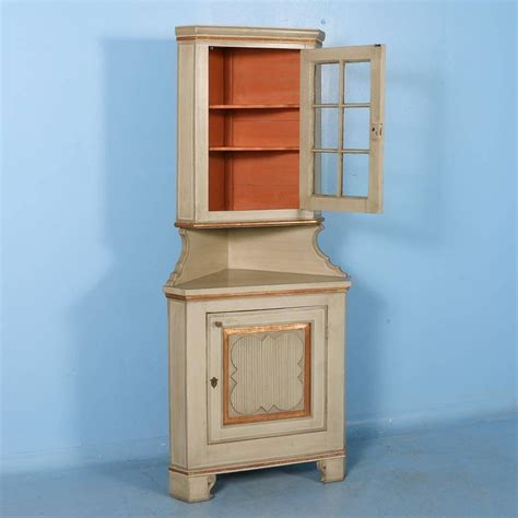 antique painted corner cabinet from hungary circa 1880