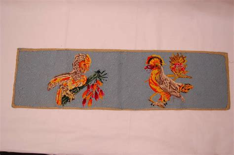 needlepoint pillow covers of two birds at 1stdibs