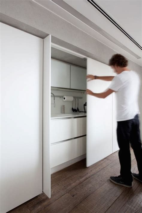 trend 2016 hidden disappearing kitchen 15 pics disappearing act 15 minimalist hidden kitchens