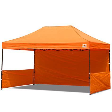 10x15 Gazebo Abccanopy 10x15 Deluxe Orange Pop Up Canopy Trade Show