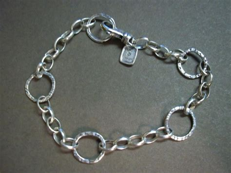 b2469 silpada sterling silver linked charm bracelet