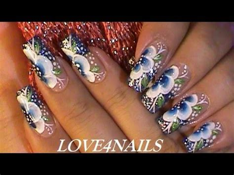 imagenes de uñas pintadas de color turquesa arte de u 241 as delicado en color azul con brillos youtube