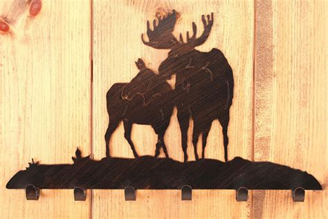 Moose Coat Rack by Iron Moose Coat Rack