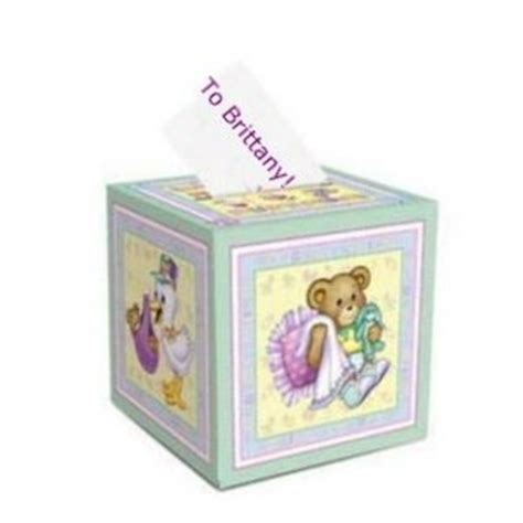 Baby Shower Gift Card Holder Box by Baby Shower Card Box