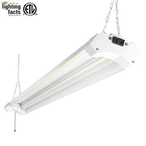 4 foot led shop light amazon hykolity 4ft 40w led shop garage hanging light fixture