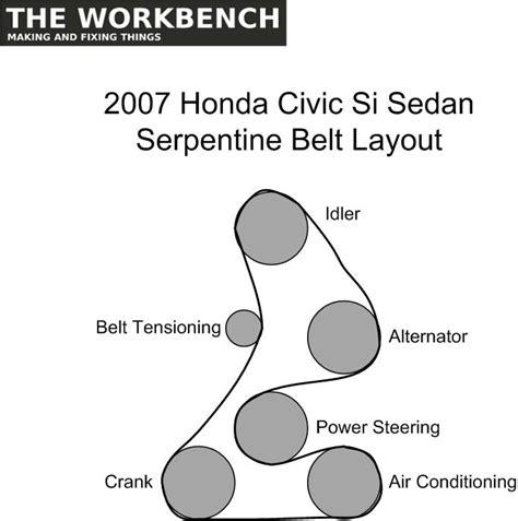 2007 honda pilot serpentine belt diagram 2007 honda serpentine belt diagram auto engine and parts