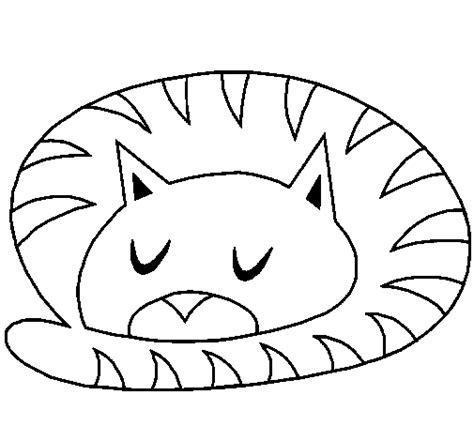 Sleepy Cat Coloring Page | sleeping cat coloring page coloringcrew com