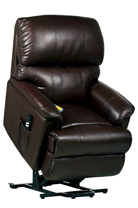 massaging recliner chair with heat canterbury dual motor leather electric riser and recliner