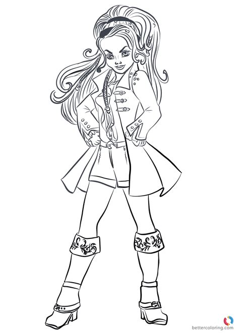 printable coloring pages descendants 2 wicked world cj hook from descendants 2 coloring pages