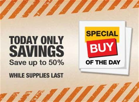 specials offers at the home depot