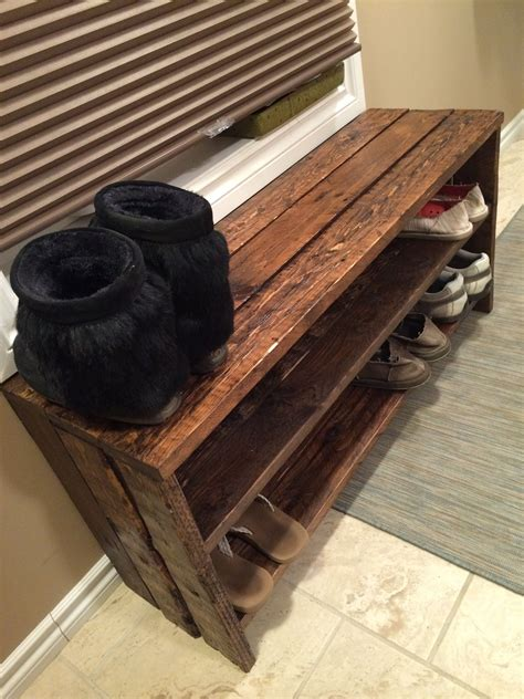 shoes rack diy pallet shoe rack simple but rustically pallet