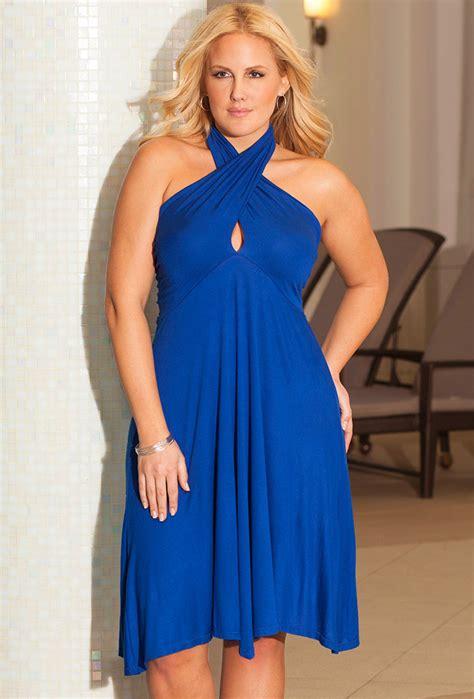 Dress Big Size 6 cobalt plus size 6 in 1 convertible dress plus size swimwear