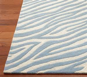 animal print rug 3 x 5 blue zebra pottery barn