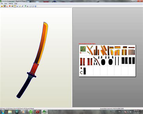 Dota Papercraft - dota 2 sword of juggernaut dota 2 papercraft